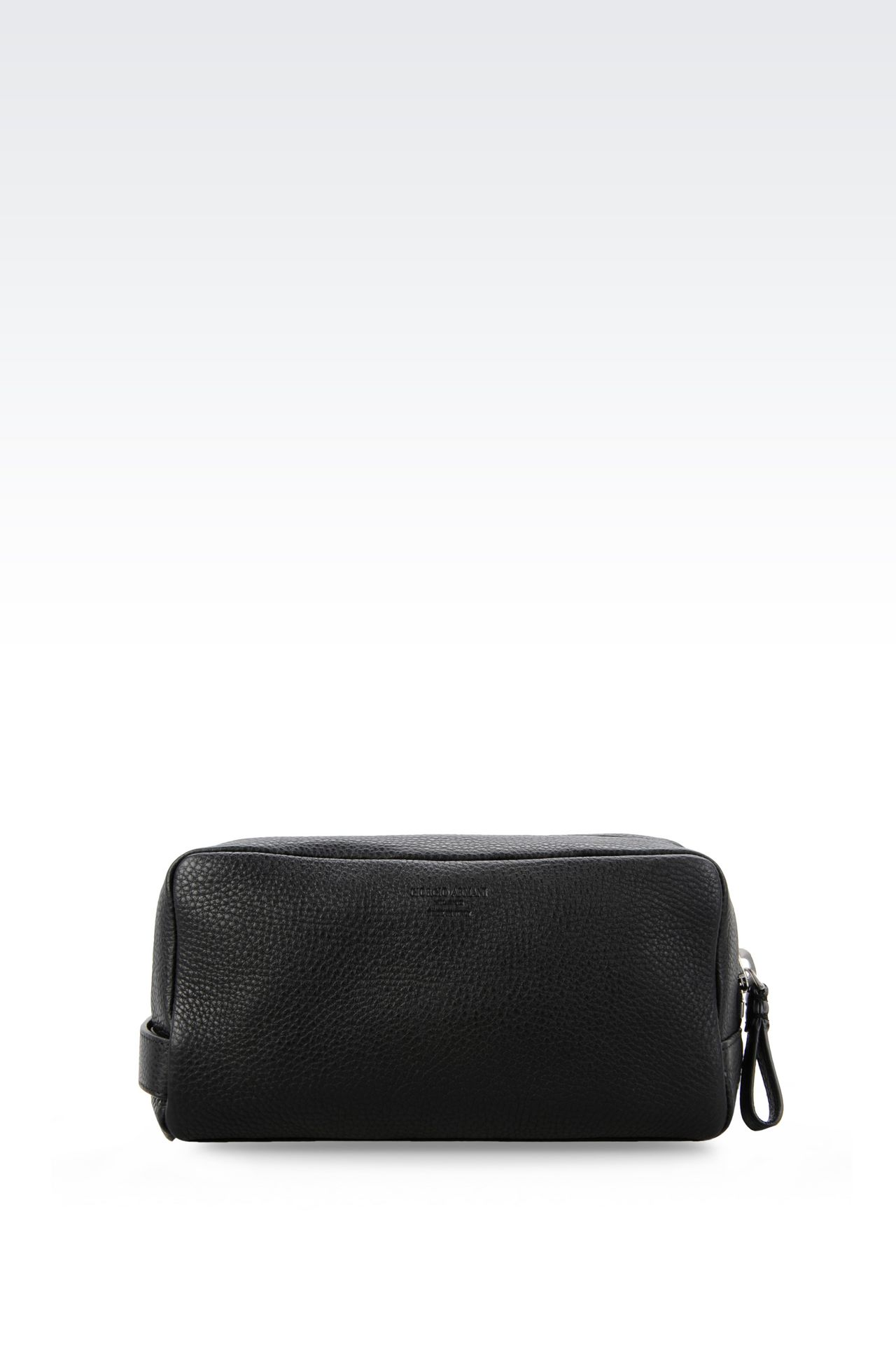 BEAUTY CASE IN PRINTED CALFSKIN: Beauty cases Men by Armani - 0