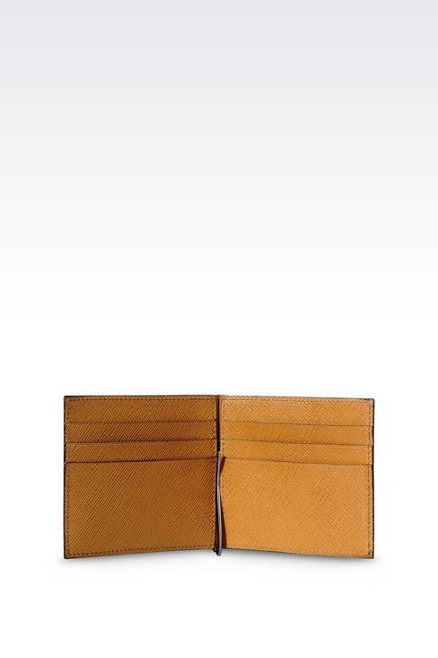 BI-FOLD WALLET IN SAFFIANO CALFSKIN WITH MONEY CLIP: Wallets Men by Armani - 3