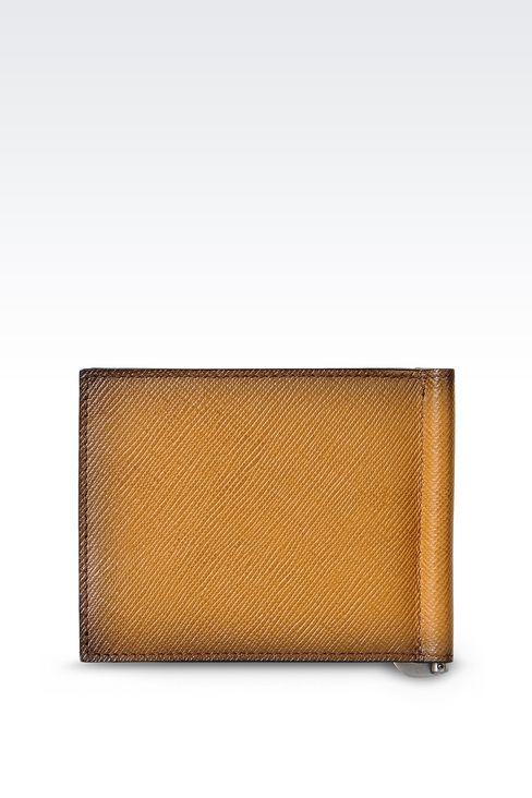 BI-FOLD WALLET IN SAFFIANO CALFSKIN WITH MONEY CLIP: Wallets Men by Armani - 2