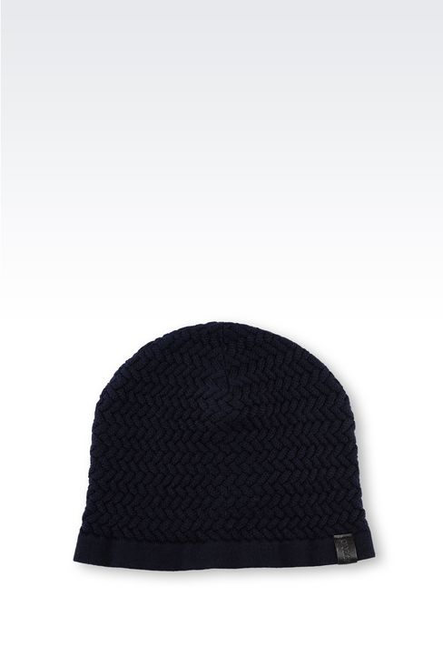 VIRGIN WOOL HAT: Hats Men by Armani - 1