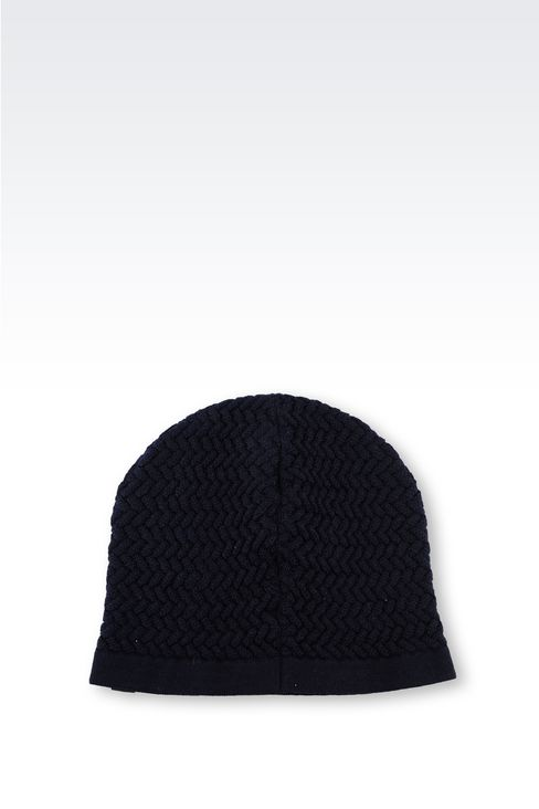VIRGIN WOOL HAT: Hats Men by Armani - 2