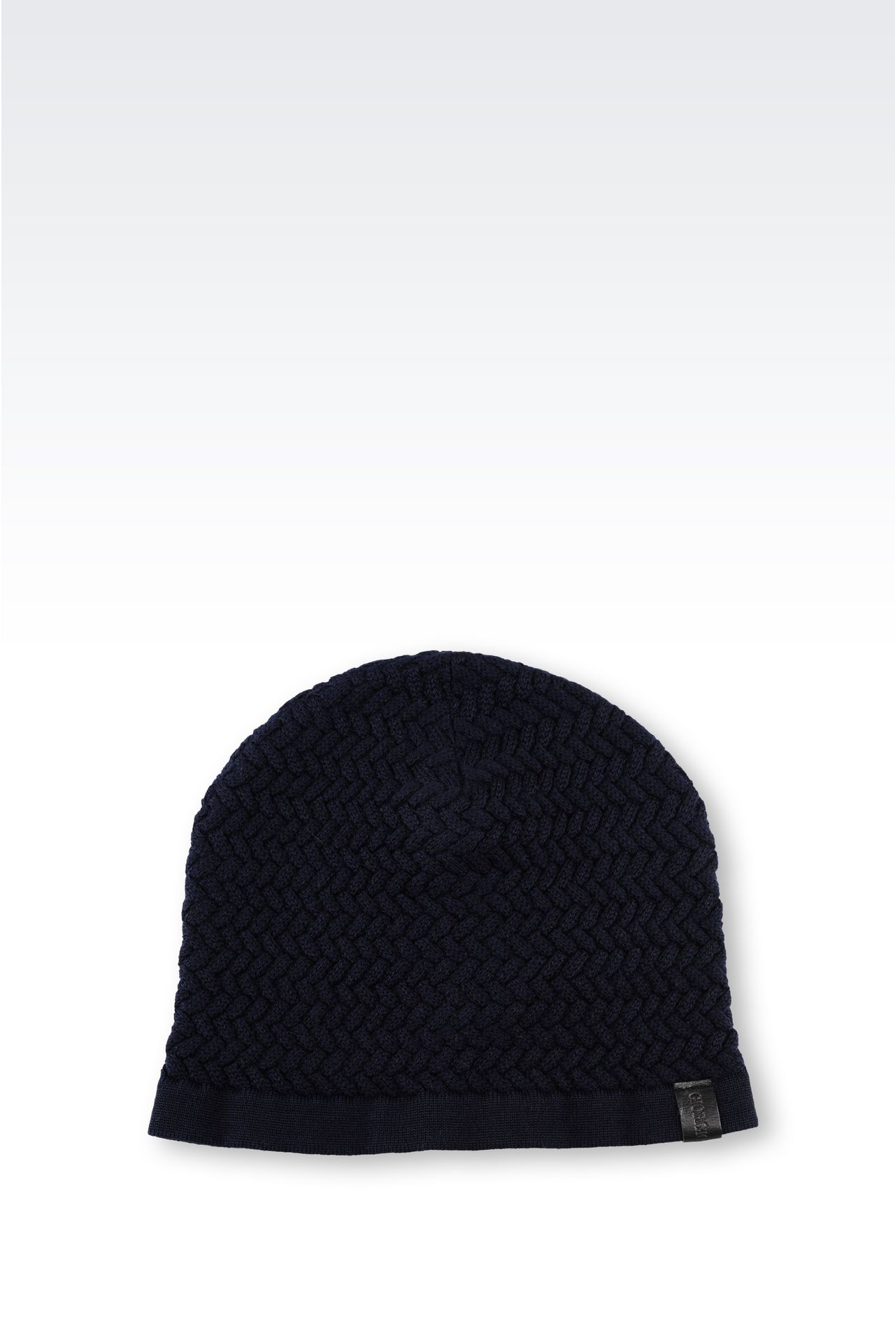 VIRGIN WOOL HAT: Hats Men by Armani - 0