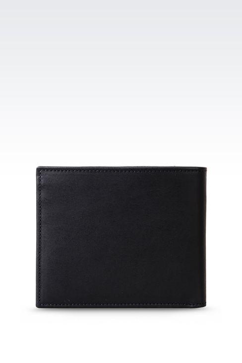 BI-FOLD WALLET IN CALFSKIN: Wallets Men by Armani - 1