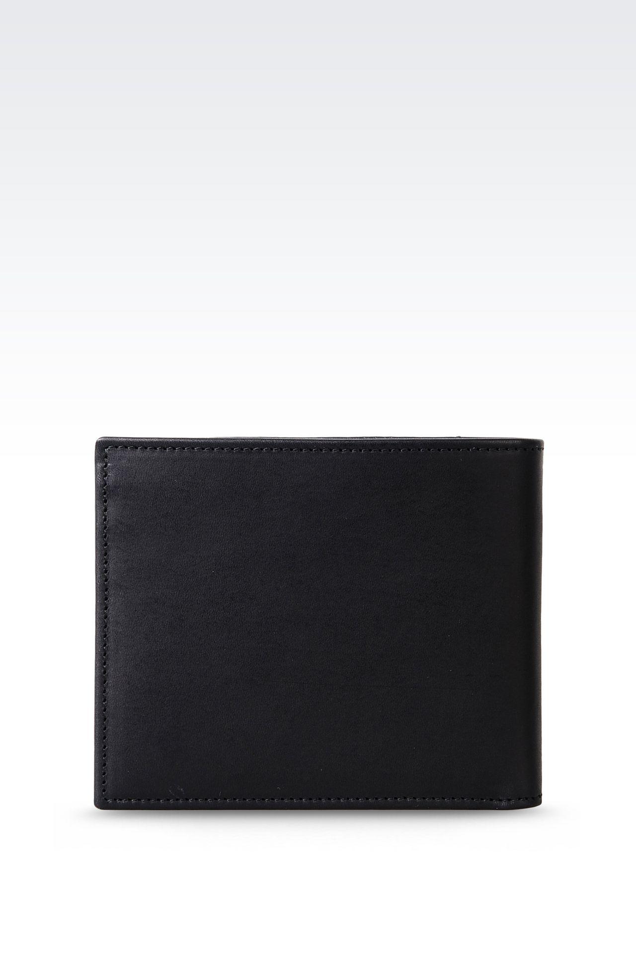 BI-FOLD WALLET IN CALFSKIN: Wallets Men by Armani - 0