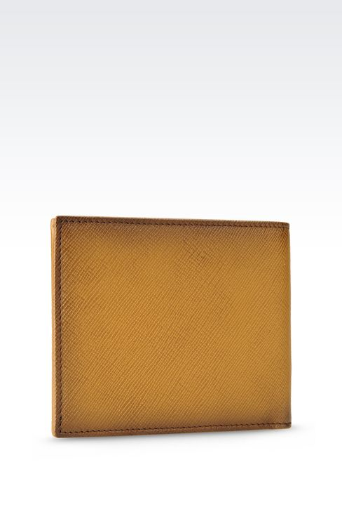 BI-FOLD WALLET IN BRUSHED SAFFIANO CALFSKIN: Wallets Men by Armani - 2