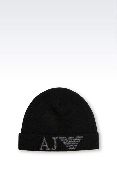 WOOL BLEND HAT WITH LOGO: Hats Men by Armani - 1