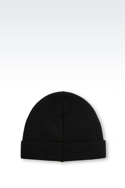 WOOL BLEND HAT WITH LOGO: Hats Men by Armani - 2