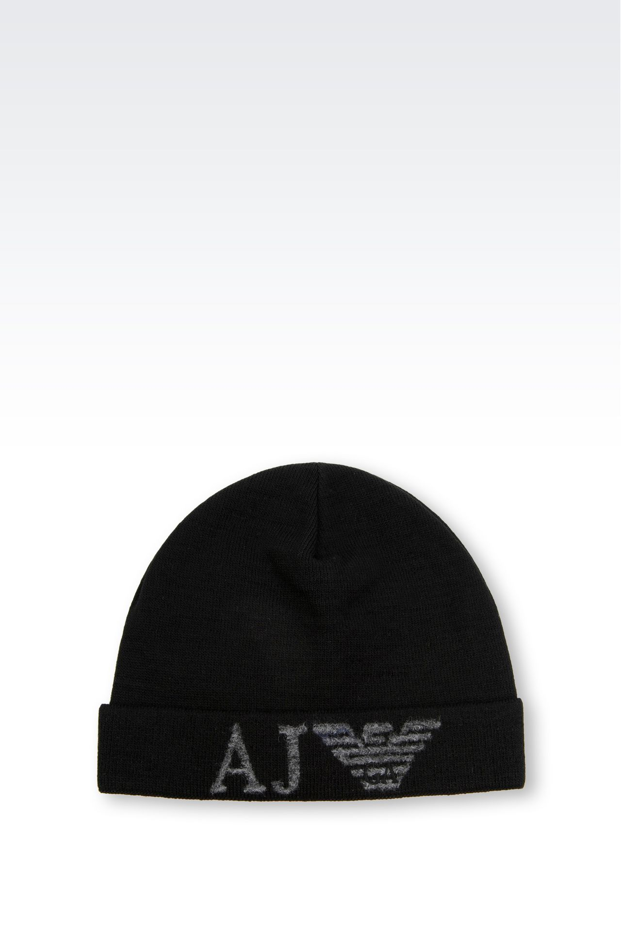 WOOL BLEND HAT WITH LOGO: Hats Men by Armani - 0