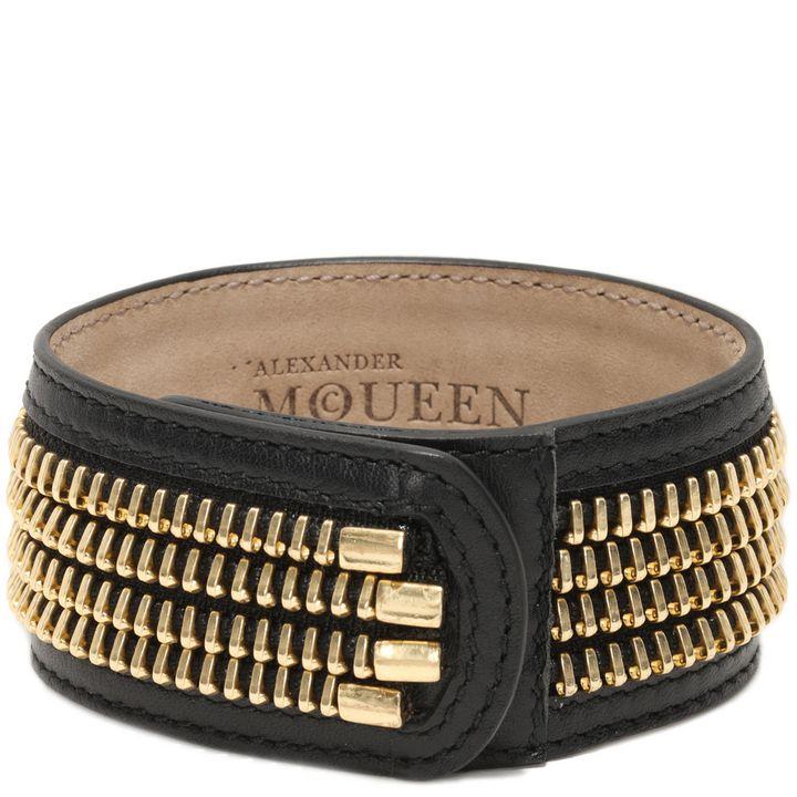 Alexander McQueen, Zip Leather Cuff