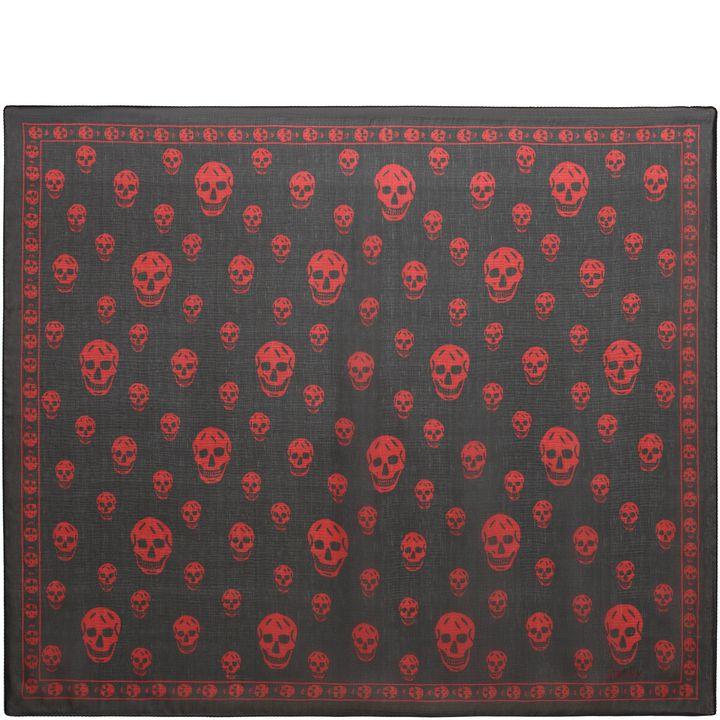 Alexander McQueen, Classic Silk Chiffon Skull Scarf