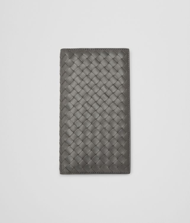 Medium Grey Intrecciato Vachette Continental Wallet