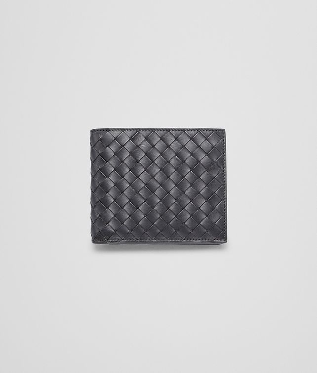 BOTTEGA VENETA WALLET IN NERO CALF INTRECCIATO Bi-fold Wallet U fp