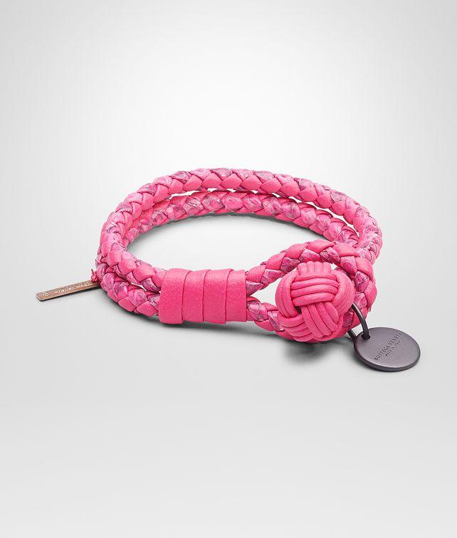 Rosa Shock Intrecciato Ayers Nappa Bracelet