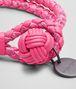 BOTTEGA VENETA Rosa Shock Intrecciato Ayers Nappa Bracelet Keyring or Bracelets D ap