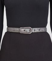 New Light Grey Intrecciato Ayers Nappa Belt