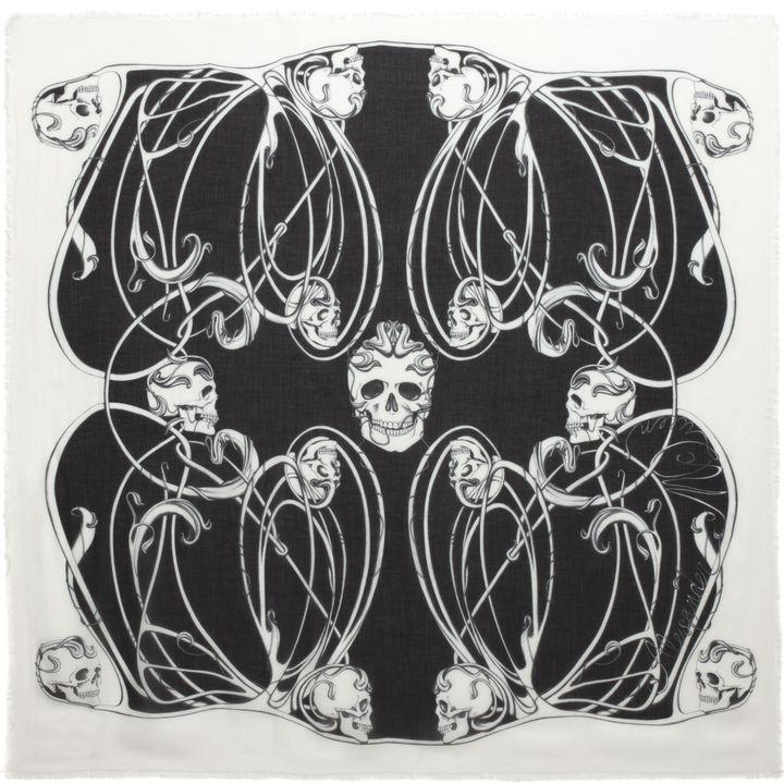 Alexander McQueen, Art Nouveau Multi Skull Scarf