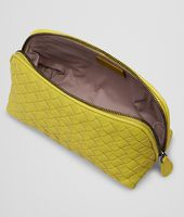BEAUTY CASE NEW CHARTREUSE IN NAPPA INTRECCIATA
