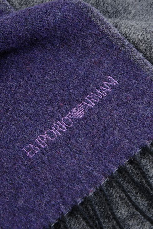 SCARF IN VIRGIN WOOL: Scarves Men by Armani - 3