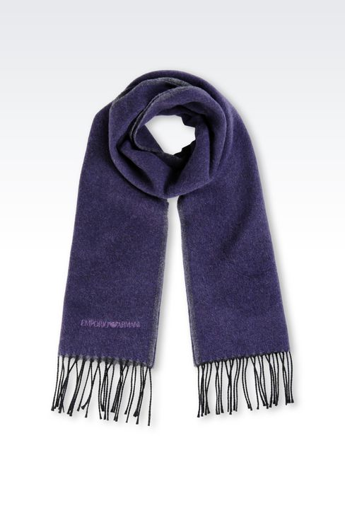 SCARF IN VIRGIN WOOL: Scarves Men by Armani - 1