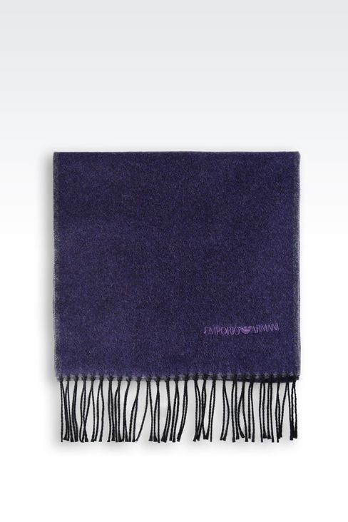 SCARF IN VIRGIN WOOL: Scarves Men by Armani - 2