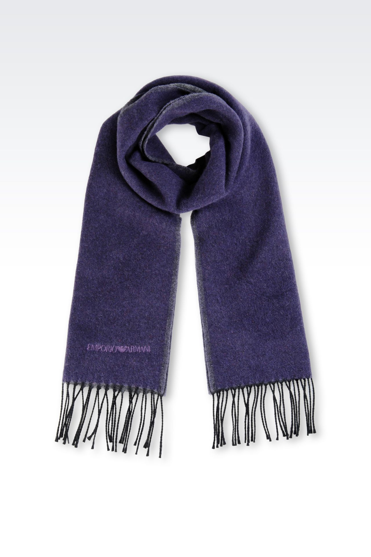 SCARF IN VIRGIN WOOL: Scarves Men by Armani - 0