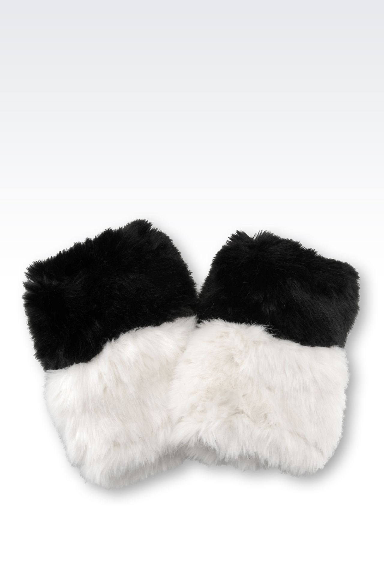 CUFFS IN TWO-COLOUR FAUX FUR: Cuffs Women by Armani - 0