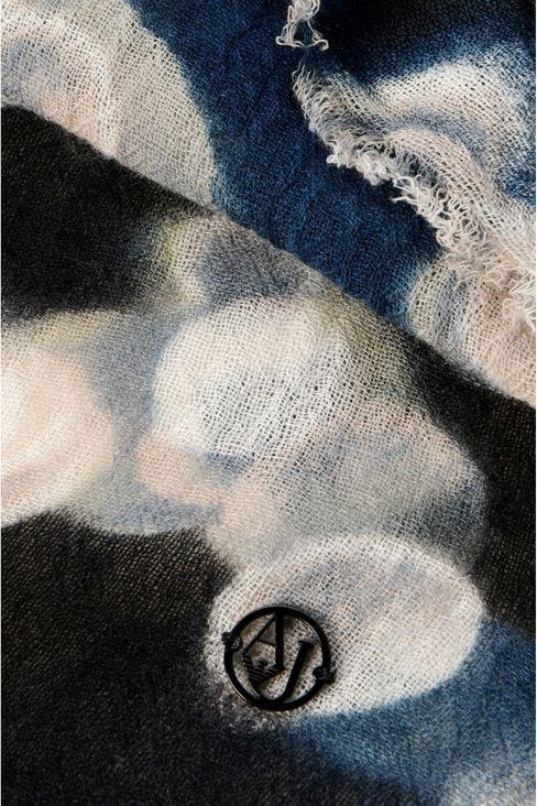 SCARF IN PRINTED WOOL: Scarves Women by Armani - 3
