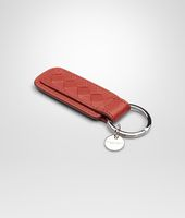 BURNT RED INTRECCIATO NAPPA KEY RING