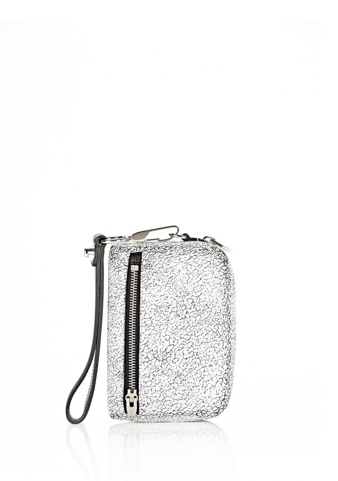 ALEXANDER WANG FUMO LARGE IN MATTE CRACKED PEROXIDE WITH RHODIUM