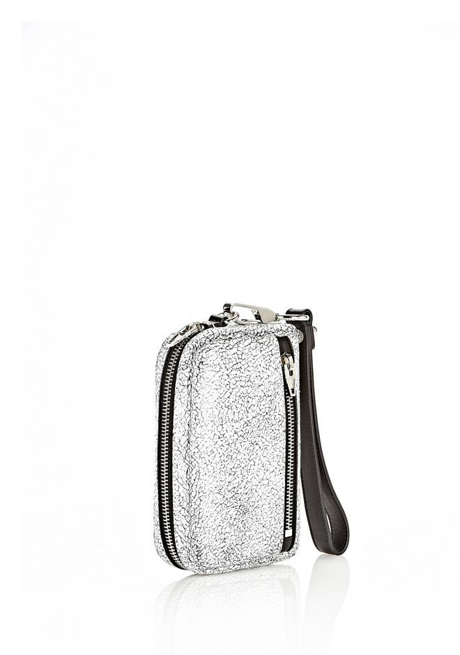 ALEXANDER WANG FUMO LARGE IN MATTE CRACKED PEROXIDE WITH RHODIUM SMALL LEATHER GOOD Adult 12_n_r