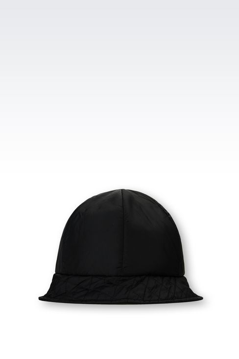 CLOCHE HAT IN TECHNICAL FABRIC: Hats Women by Armani - 1