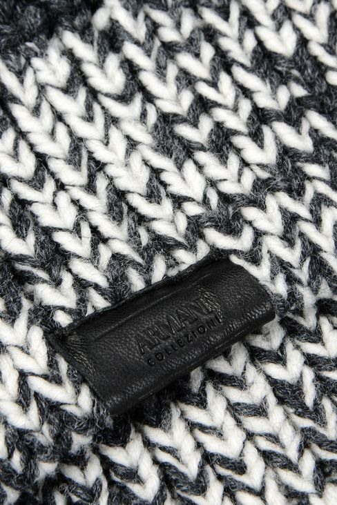 BEANIE IN WOOL BLEND: Hats Men by Armani - 3