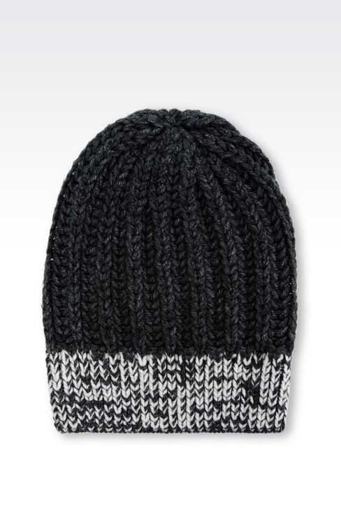 BEANIE IN WOOL BLEND: Hats Men by Armani - 2