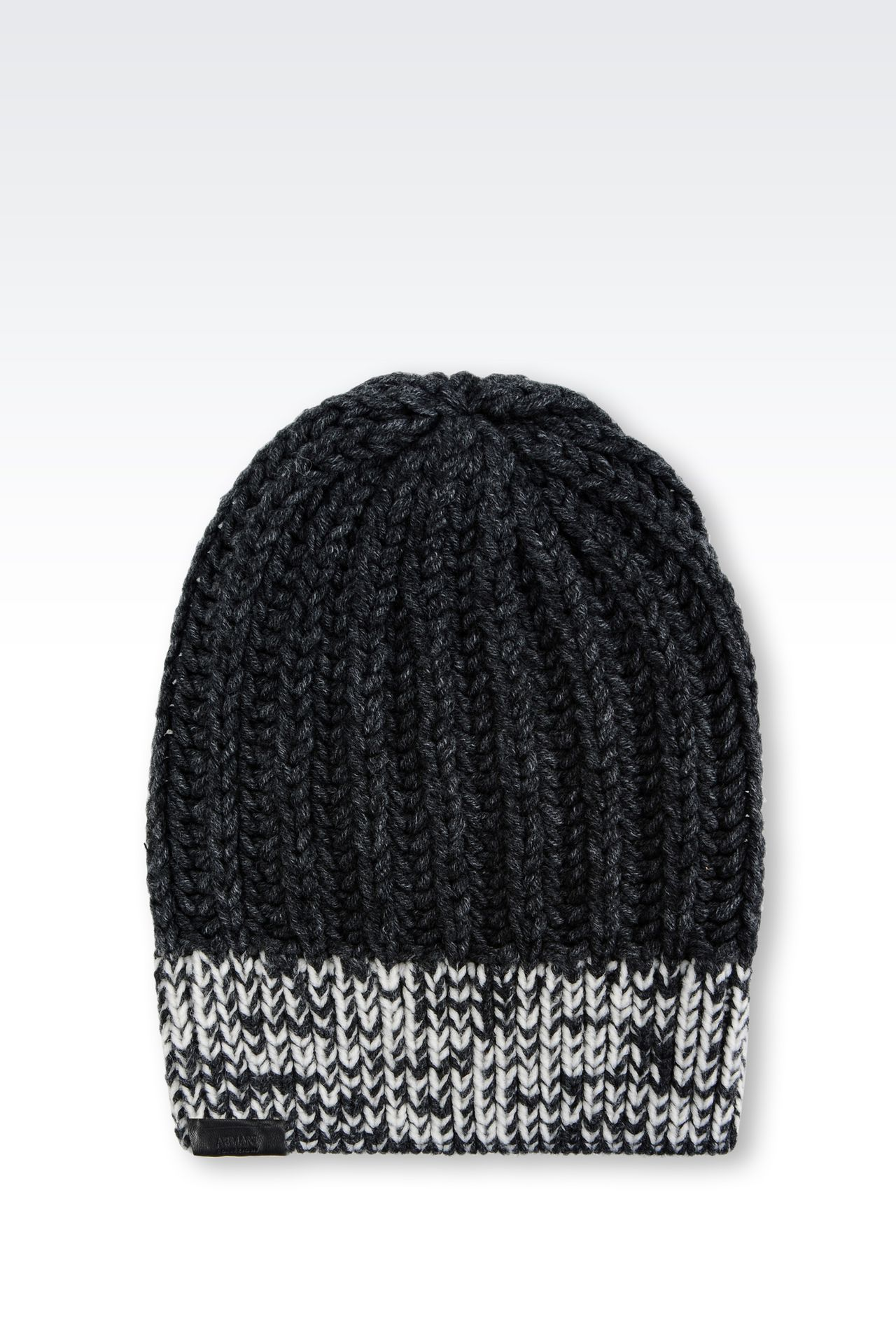 BEANIE IN WOOL BLEND: Hats Men by Armani - 0