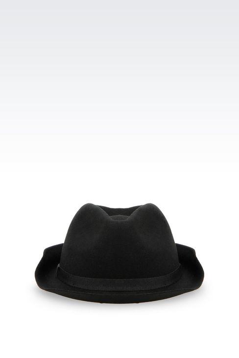 NARROW-BRIMMED FELT HAT: Hats Women by Armani - 1