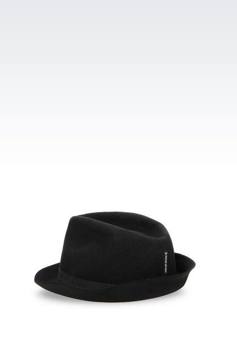 NARROW-BRIMMED FELT HAT: Hats Women by Armani - 2