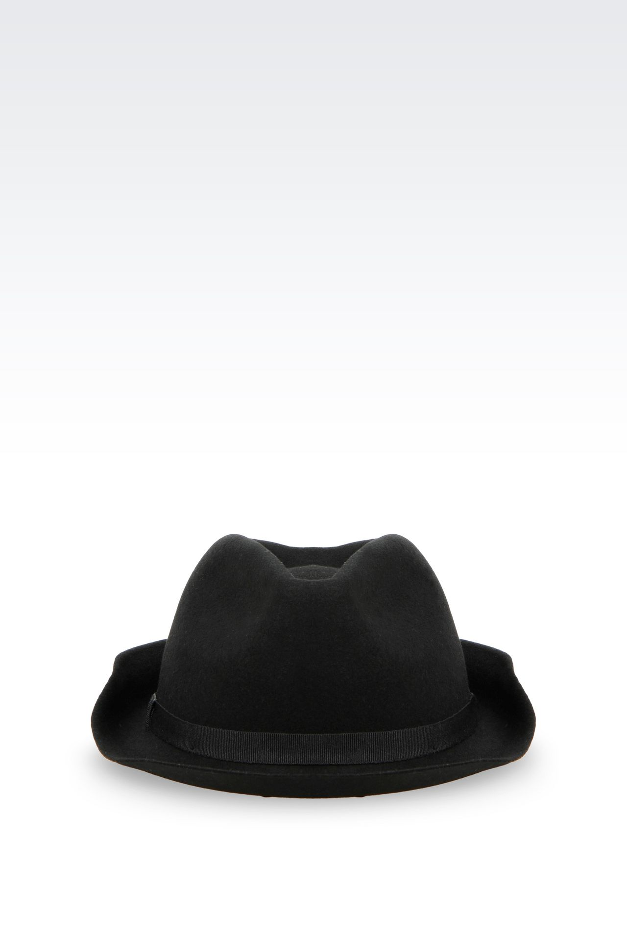 NARROW-BRIMMED FELT HAT: Hats Women by Armani - 0