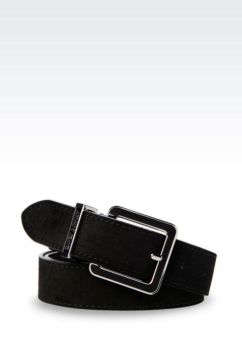 SUEDE BELT: Textile belts Women by Armani - 1