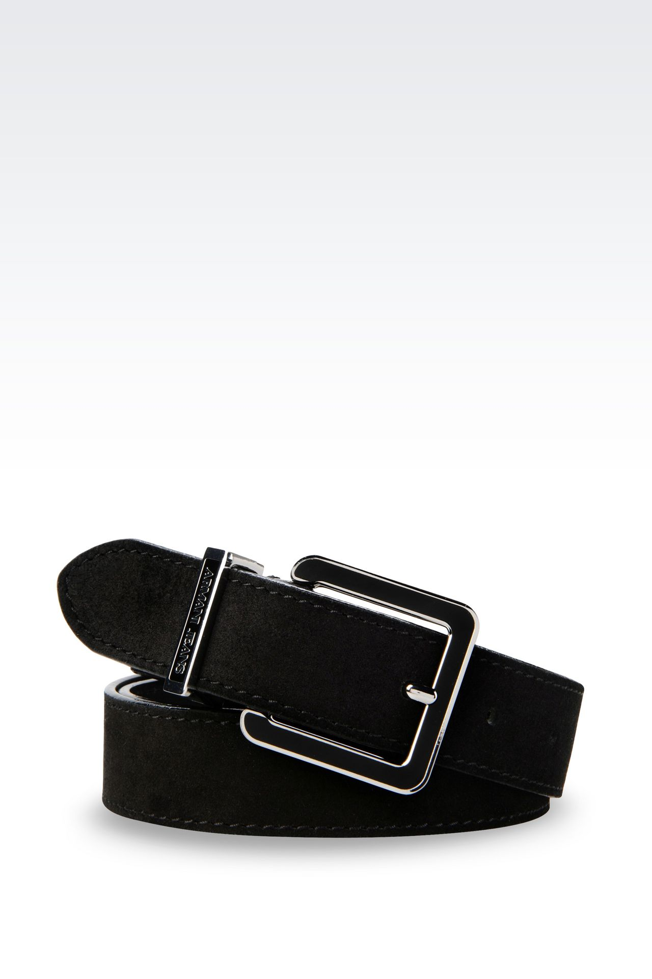 SUEDE BELT: Textile belts Women by Armani - 0