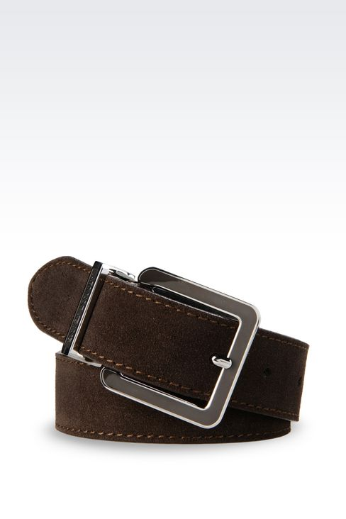 SUEDE BELT: Textile belts Women by Armani - 1