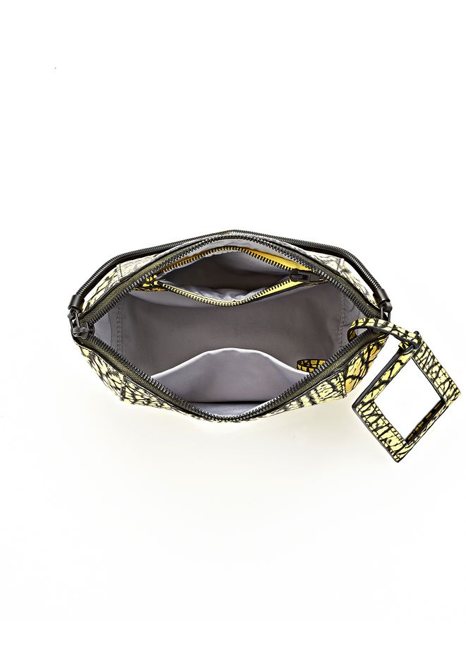 CHASTITY MAKE UP POUCH IN CONTRAST TIP CITRON