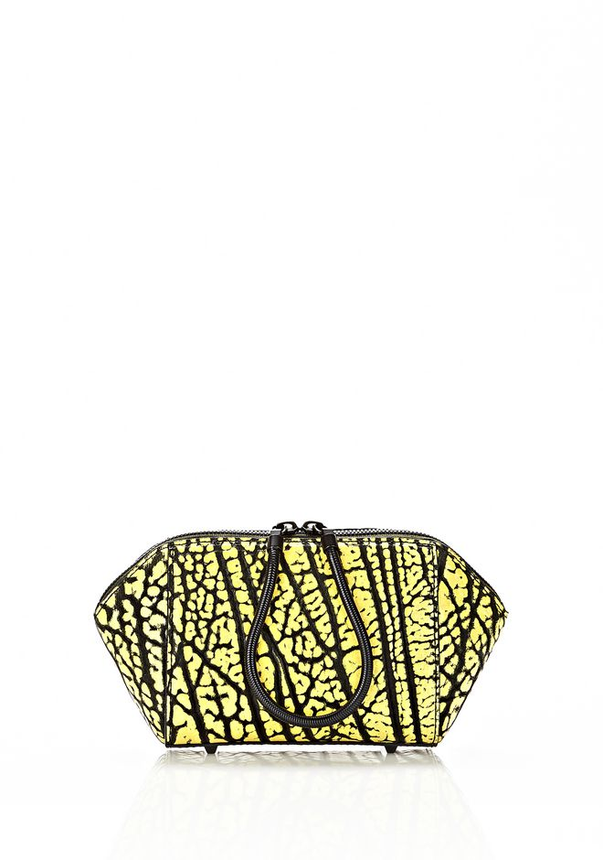 ALEXANDER WANG CHASTITY MAKE UP POUCH IN CONTRAST TIP CITRON