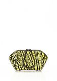 ALEXANDER WANG CHASTITY MAKE UP POUCH IN CONTRAST TIP CITRON SMALL LEATHER GOOD Adult 8_n_f