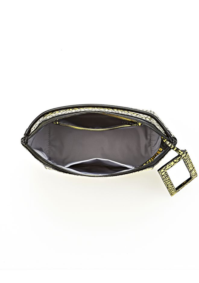 LARGE CHASTITY MAKE UP CLUTCH IN CONTRAST TIP CITRON