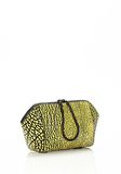 ALEXANDER WANG LARGE CHASTITY MAKE UP CLUTCH IN CONTRAST TIP CITRON SMALL LEATHER GOOD Adult 8_n_r