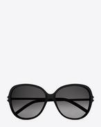 Classic 23  sunglasses in matte black acetate with brown lenses