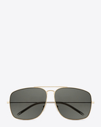 Classic 20  sunglasses in rose gold steel with grey lenses