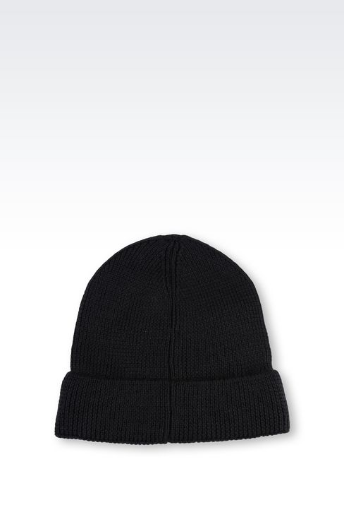WOOL BLEND HAT: Hats Men by Armani - 2