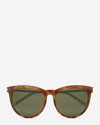 Classic 24  sunglasses IN LIGHT HAVANA ACETATE AND ROSE GOLD METAL WITH GREEN LENSES