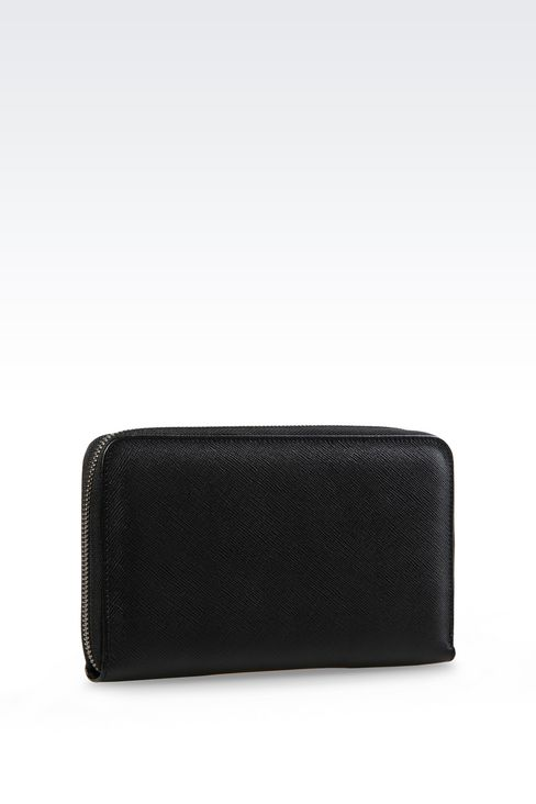 ZIP AROUND WALLET IN SAFFIANO CALFSKIN